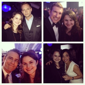 Clockwise from top left: Patrick J. Adams, Todd Chrisley, Linda Yaccarino and Andy Cohen.