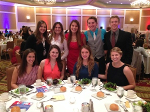 The Penn State PRSSA exec board representatives at the Awards Ceremony and Dinner at the conference.